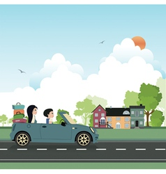 Driving tour vector image