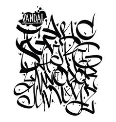 Font graffiti vandal vector image