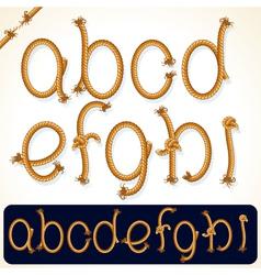 rope alphabet 1 vector image