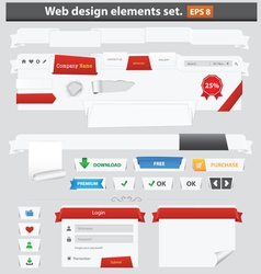 web elements paper vector image