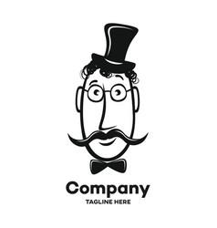19th century gentleman logo vector image