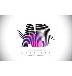 Ab a b zebra texture letter logo design vector