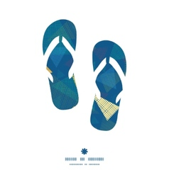 Abstract fabric triangles flip flops silhouettes vector
