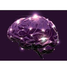 Abstract Human Brain vector image