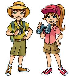 Adventure kids vector