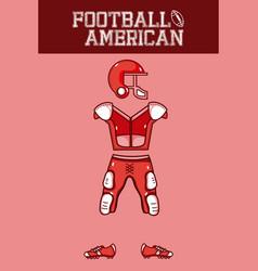 American football armour vector