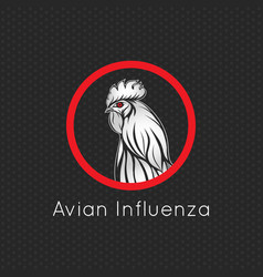 Avian influenza logo icon vector