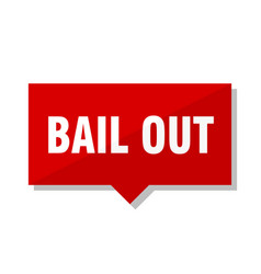 bail out red tag vector image