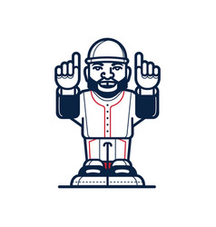 Baseball cartoon player vector