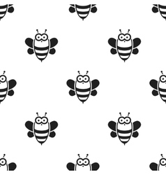 Bee black icon for web and mobile vector image