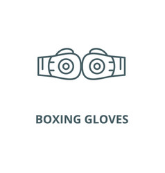 boxing gloves line icon boxing gloves vector image