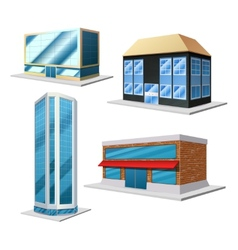 Building decorative set vector image