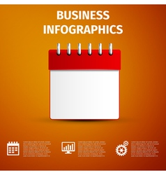 Business infographics icon Calendar red icon vector image