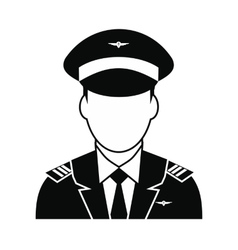 Captain of the aircraft icon vector image