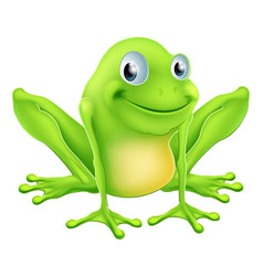 cartoon frog character vector image