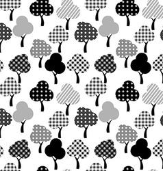 Cartoon patterned trees vector