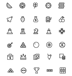 Casino Line Icons 2 vector image