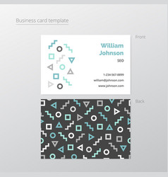 clean business card template vector image