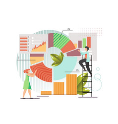 Data collection flat style design vector