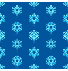 Deep Blue Snowflakes Pattern vector