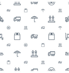 delivery icons pattern seamless white background vector image