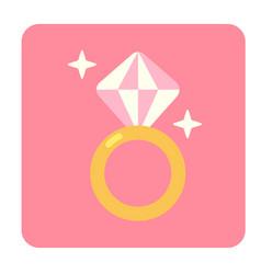 Dimond flat icon vector