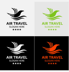 Eagle travel logo template vector