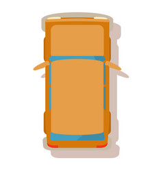 Family car icon cartoon style vector