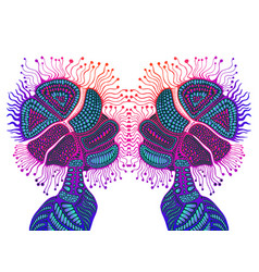 Fantastic psychedelic abstract shamanic ornament vector