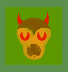 flat shading style icon halloween monster vector image