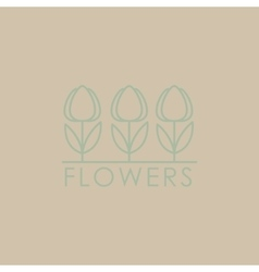 Flower Shop Icon and Lettering Set vector
