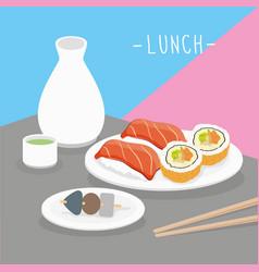 food meal lunch dairy eat drink menu vector image