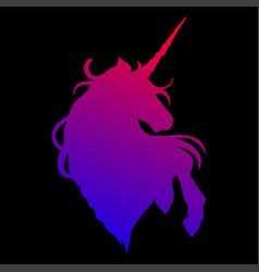 Graphic unicorn silhouette vector