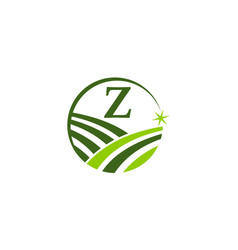 green project solution center initial z vector image