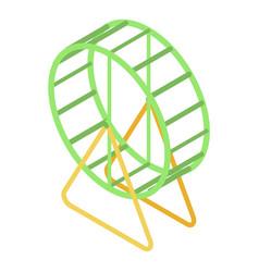 Hamster wheel icon isometric style vector
