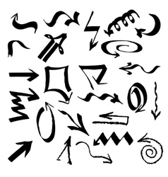 Hand drawn arrows set on a white background vector