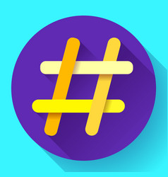 hashtags icon flat tweet social media vector image