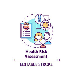 Health risk assessment concept icon vector