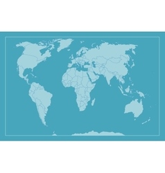 High Detail World map All elements are separated vector