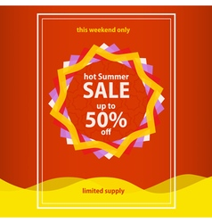 Hot summer sale vector image vector image