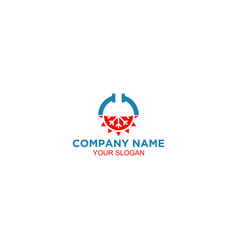 hvac and plumbing logo design vector image