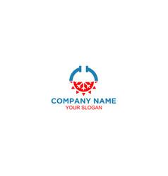 Hvac and plumbing logo design vector