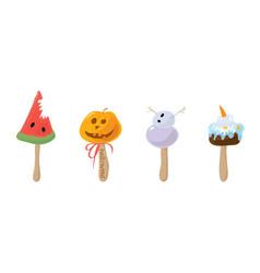 Ice cream style halloween vector