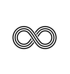 Infinity line symbol on white background vector