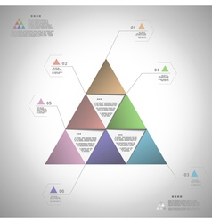 infographic triangle for data presentation vector image