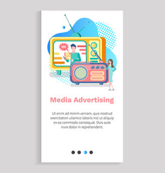 information technology radio and tv ad vector image