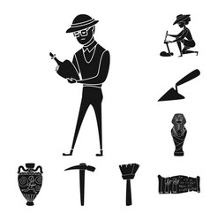 isolated object of museum and attributes symbol vector image