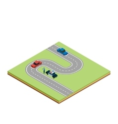 Isometric road tile vector