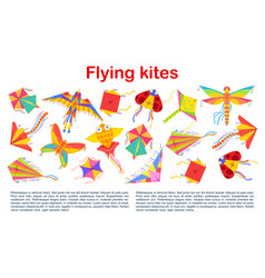 kites holiday flying entertainment paper toys vector image