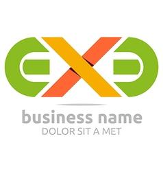 Letter ex lettemark design icon vector